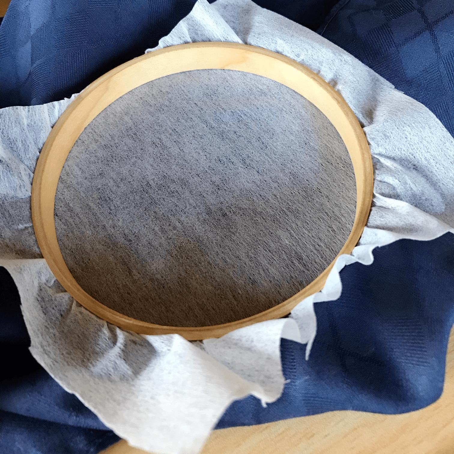 刺繍 布 接着芯