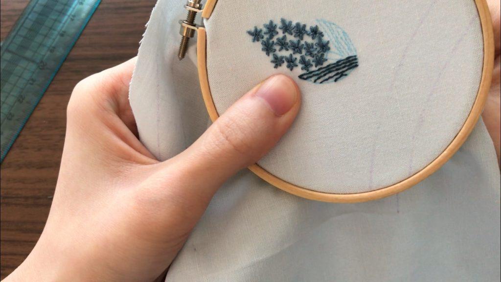 マスク 手縫い 刺繍 ワンポイント